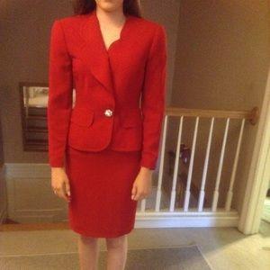 Bill Blass red suit 2